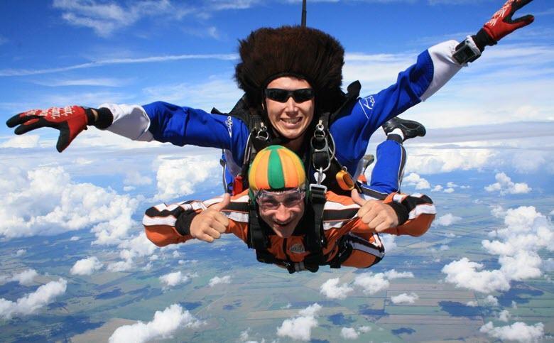 подарок папе прыжок с парашюта