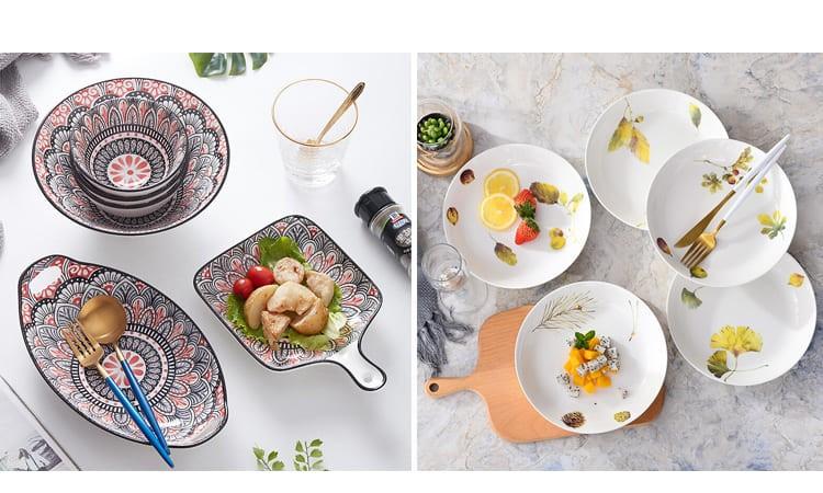 Симпатичная посуда в комплектах