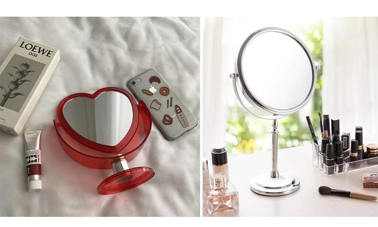 Двустороннее зеркало для макияжа