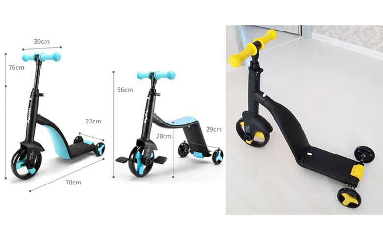 Детский трехколесный скутер