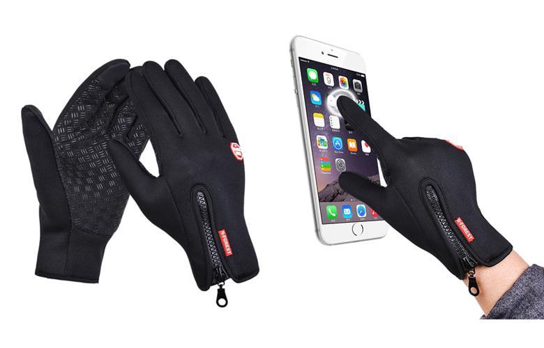 Тактильные перчатки с утеплением