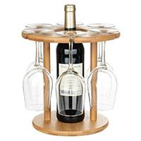 Подвесной стелаж-держатель для вина и бокалов