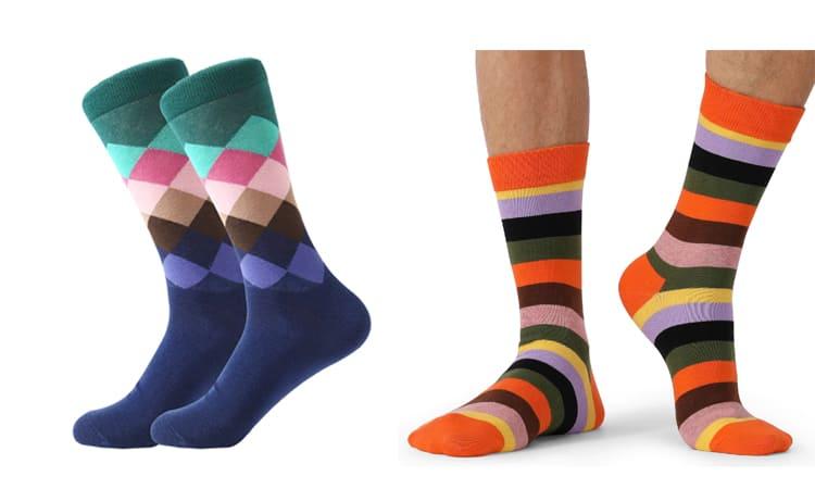 Длинные цветные носки
