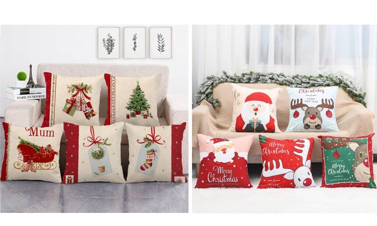 Рождественские наволочки