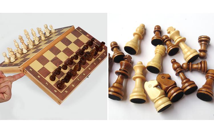 Деревянный шахматный набор